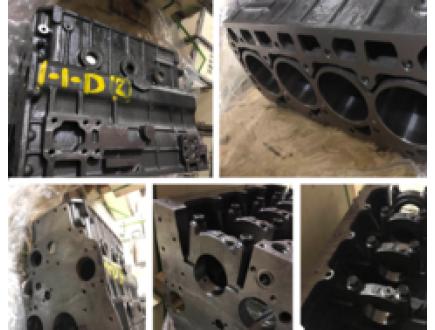 Купить блок цилиндров на двигатель 4D92E для погрузчика Komatsu FD15T-20.